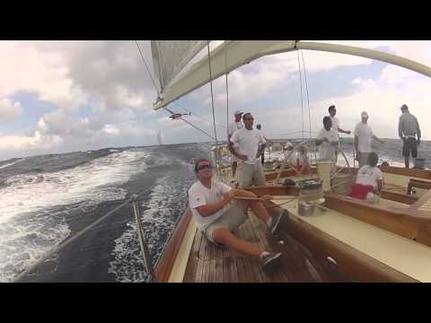 Onboard Rebecca at the Super Yacht Regatta Antigua 2012