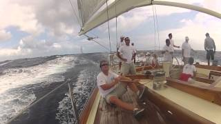 Onboard Rebecca at the Super Yacht Regatta Antigua 2012