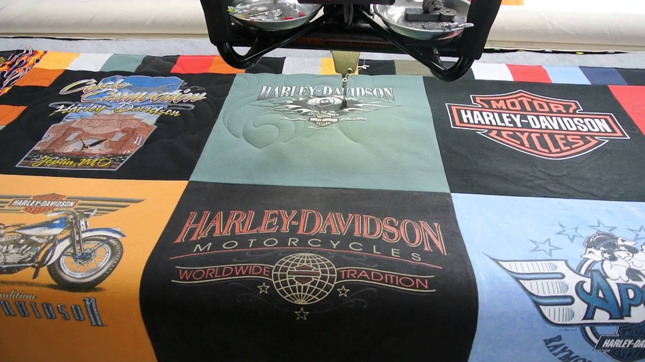 Harley Davidson T-shirt Quilt Maker! - YouTube : t shirt quilt maker - Adamdwight.com