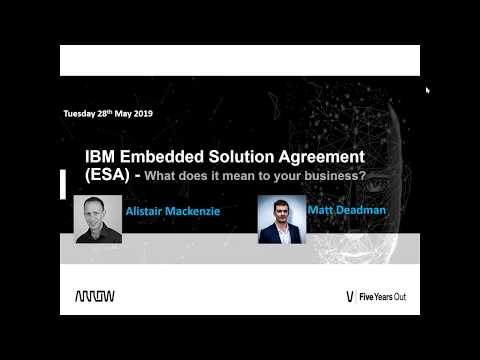 Exclusive Webinar - IBM Embedded Solution Agreement ESA