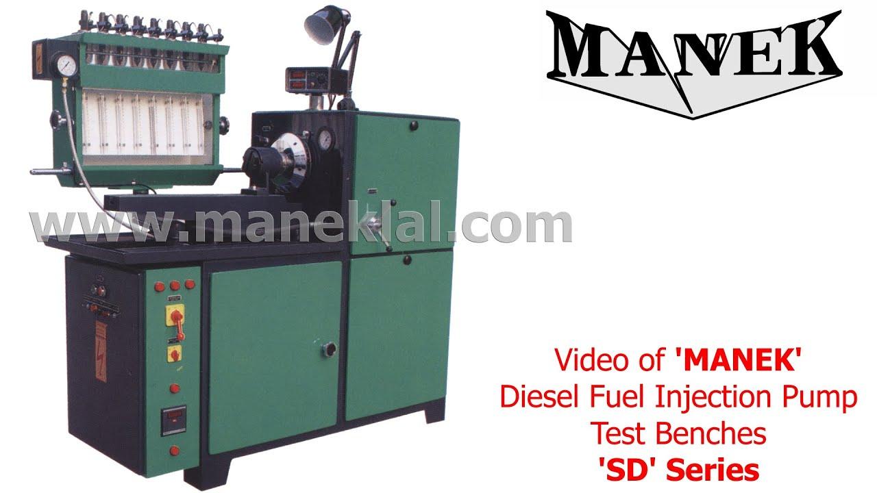 Manek - diesel fuel injection pump test bench, nozzle tester