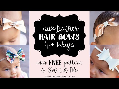 Christmas Hair Bow Template.4 Faux Leather Bow Tutorials Made By Melli Free Pattern Svg