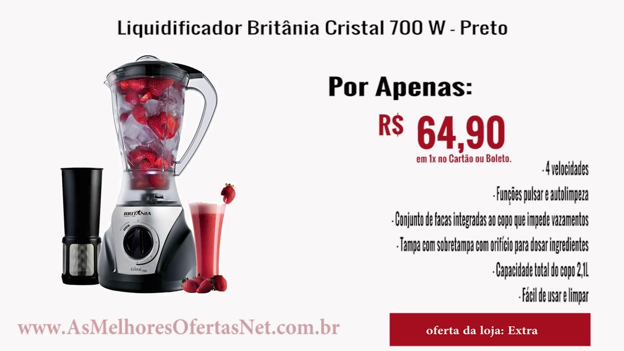 64db36013 Liquidificador Britania Cristal 700 W - Preto - As Melhores Ofertas ...