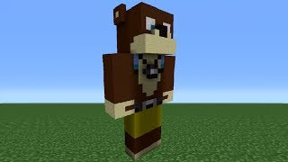 Minecraft Tutorial: How To Make An L for Lee Statue