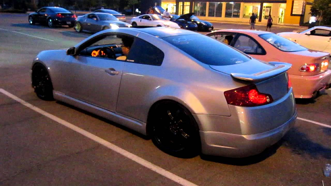 Twin Turbo G35 Coupe Revving And Acceleration