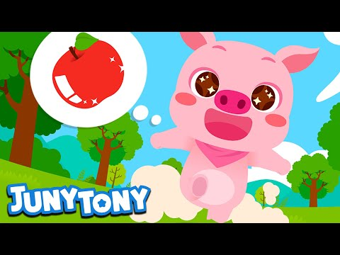 i-want-the-apple- -will-the-pig-be-able-to-have-the-yummy-apple?- -animal-song-for-kids- -junytony