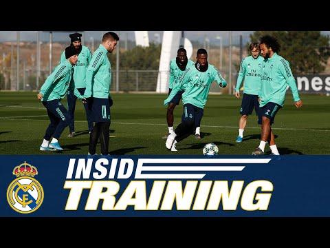 Pre-PSG training at Real Madrid City!