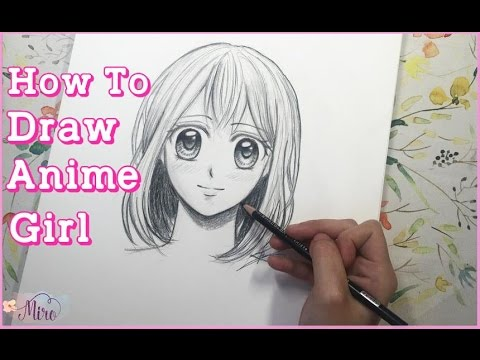How To Draw Anime Girl Step By Step Youtube