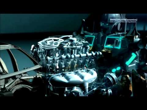 BMW TwinPower Turbo Engines CGI animation