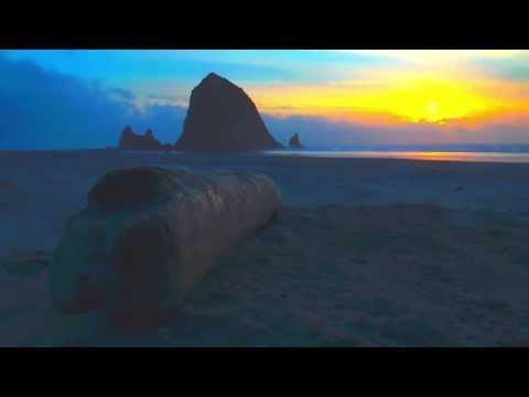 Coastline and waves Cannon Beach, OR  USA