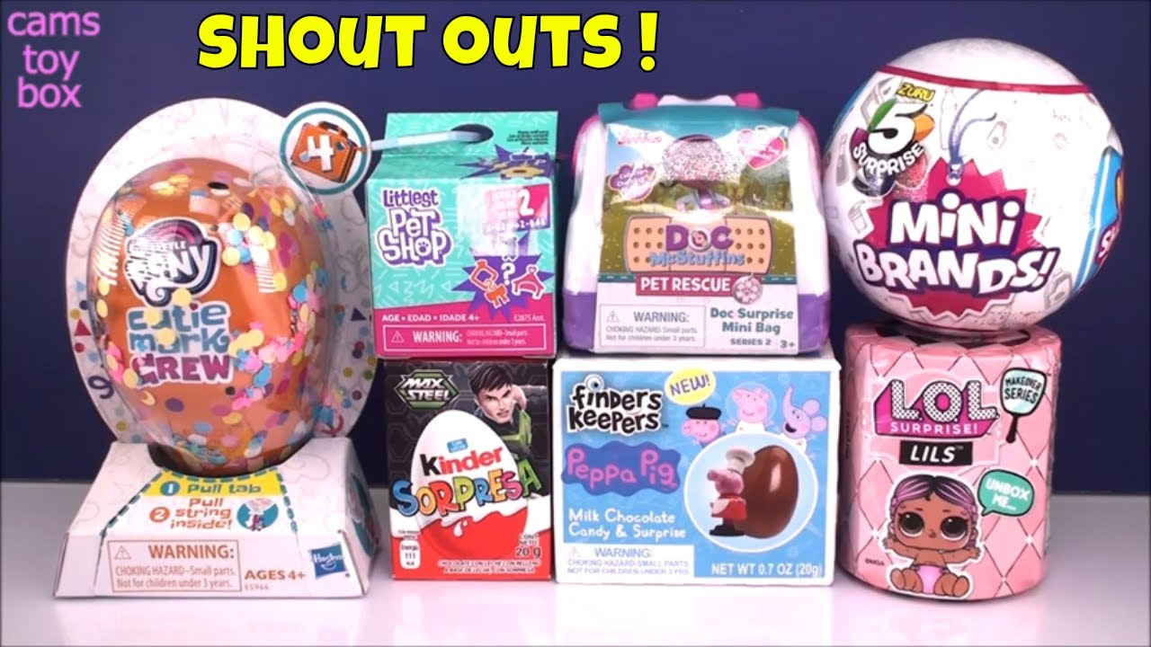 5 Surprise Mini Brands Lol Lils Peppa Pig Kinder My Little Pony Toys