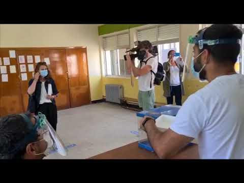 Galicia pone a prueba el protocolo de protección para votar el 12-J