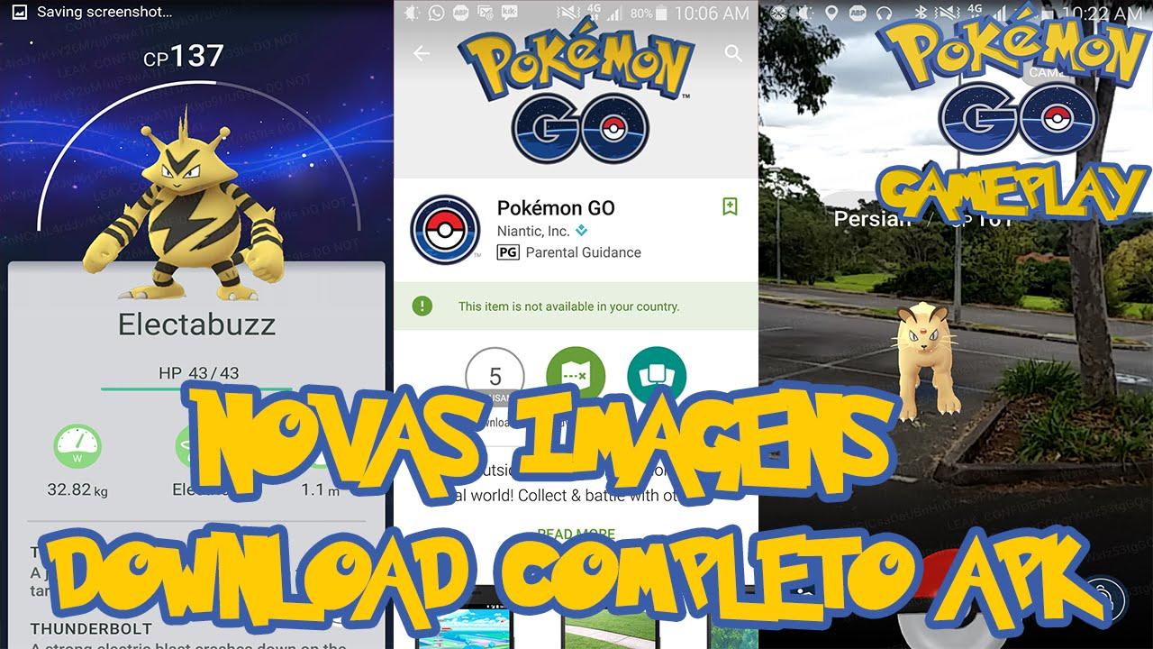 Pokemon Go Download Completo APK + Novas Imagens  #Smartphone #Android