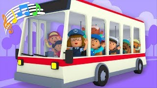 The Wheels On The Bus | Kids Song | Carl's Car Wash