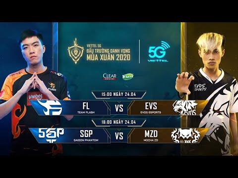 FL vs EVS | SGP vs MZD [24.04.2020] - Viettel 5G ĐTDV mùa Xuân 2020
