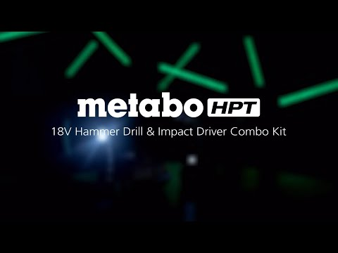 Metabo HPT KC18DBFL2T 18V Lithium Ion Brushless Hammer Drill & Impact Driver Combo Kit