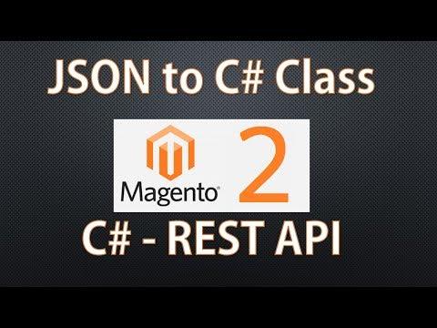 Magento 2 REST API - JSON to  CSharp Class