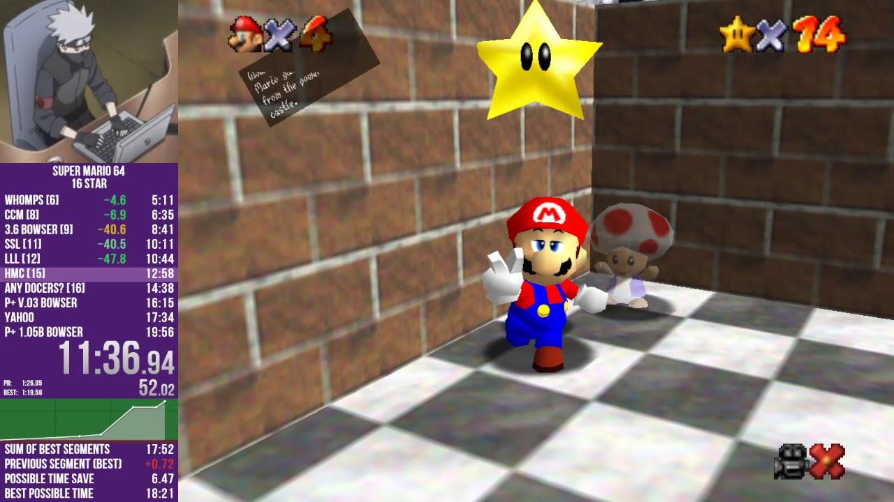 Mario 64 in 18:28