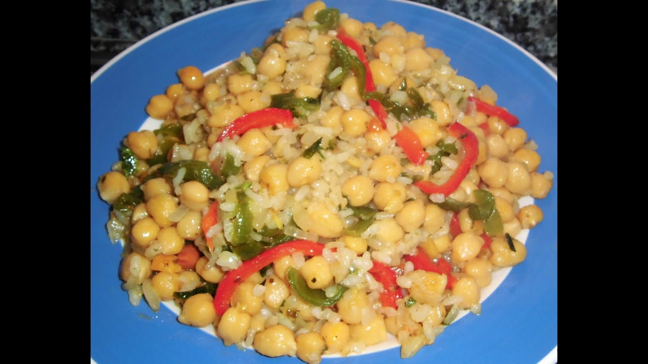 Garbanzos con arroz y verduras youtube - Garbanzos con verduras ...
