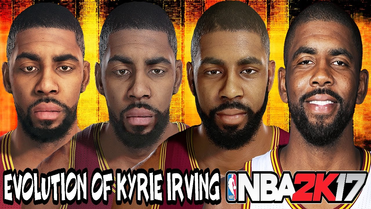 9bb6f835999a Kyrie Irving Evolution - Face Comparison (NBA 2K12 - NBA 2K17) - YouTube