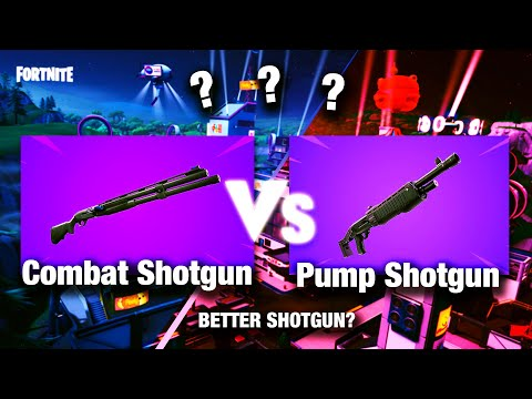 Combat Shotgun Vs Pump Shotgun. BETTER THAN THE PUMP!? (Fortnite Season 9)