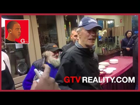 Clint Eastwood takes us for lunch on his movie set on GTV Reality