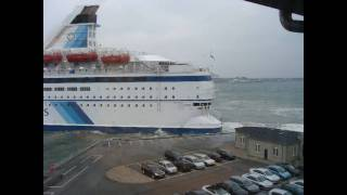 dfds captain makes the impossible in storm