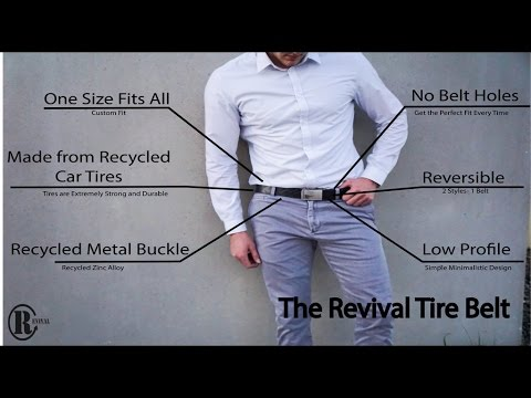 Revival Tire Belt - Unique, Durable, and 100% Recycled Belt