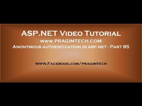 Anonymous Authentication In Asp.net   Part 85