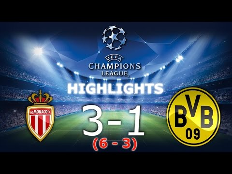 ⚽AS Monaco 3-1 Borussia Dortmund - Skrót / Highlights - Champions Leaugue 1/4 Final [19.04.2017]