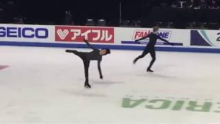 Nathan Chen SP spin seq practice run - Skate America 2018