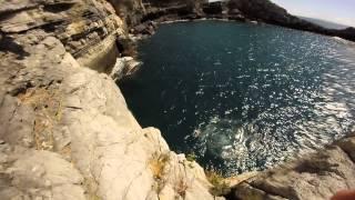 Cliff Diving La Spezia 22 5 18metri Porto Venere Grotta Byron GoPro