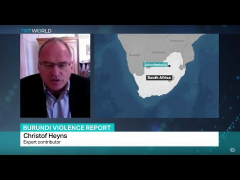 Burundi Violence Report: Interview with expert contributor Christof Heyns
