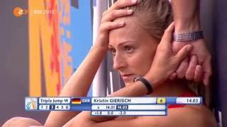 Dreisprung der Frauen finale European Athletics Championships 2016 Amsterdam