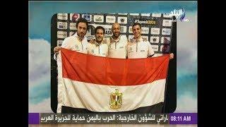أحمد مجدي وهند النعسانى يهنئون منتخب مصر للإسكواش لتتويجه ببطولة العالم: «احنا ملوك الإسكواش»
