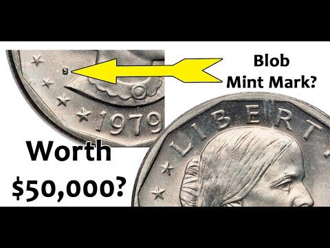 1979 Blob Mint Mark Dollar - Is This A Rare Susan Anthony Dollar