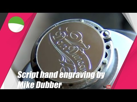Script hand engraving with Lindsay Classic AirGraver