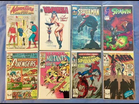 comic book haul. Estate sale, trade night and used book stor
