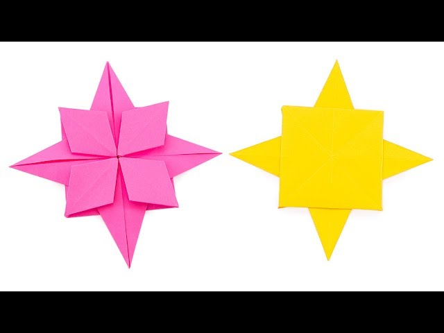Origami Compass Rose Star Tutorial - Paper Kawaii