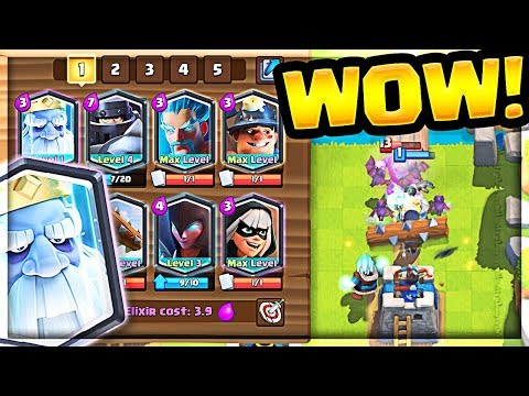 *NEW* All LEGENDARY Deck Clash Royale Royal Ghost