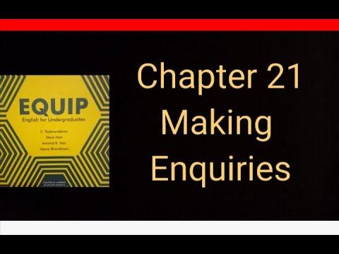 EQUIP. Making Enquiries. 1st Sem Common English
