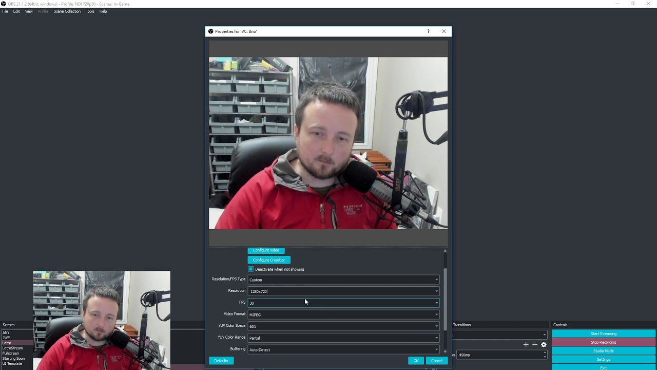 Fix motion blur of webcam in OBS