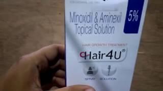 Hair regrowth medicine unbox Hindi