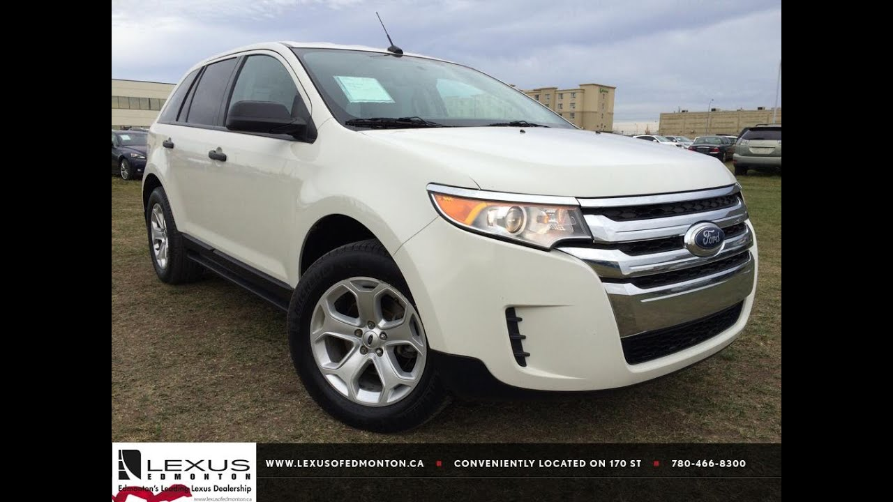 Pre Owned White  Ford Edge Se Fwd Review Athabasca Alberta