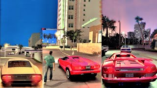 GTA Vice City Rage With CryENB + Classic Lamborghinis Cinematic + Gameplay Ultra Graphics 4K!