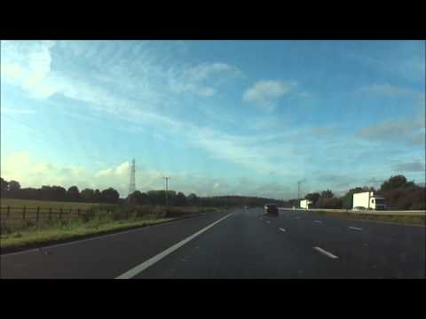 Car drive from Maida Vale, London to Newbury Town, West Berkshire - 12th October 2013
