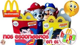 Paw Patrol ESCONDIDOS en el Menú Infantil del MC DONALDS / Juguetes en español