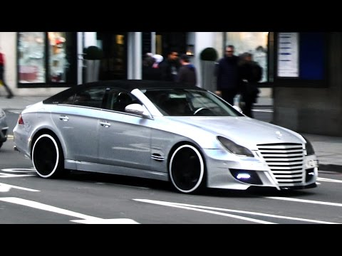 Supercars in London - March 2015 (Blue Enzo, SLS Black-Series, custom Aventadors, SLR)