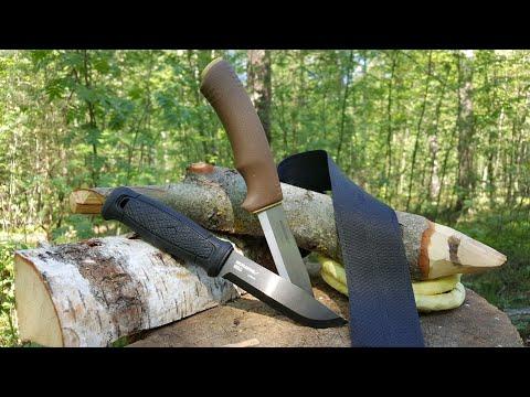 Ножи GARBERG и BUSHCRAFT Morakniv. Уличный тест.