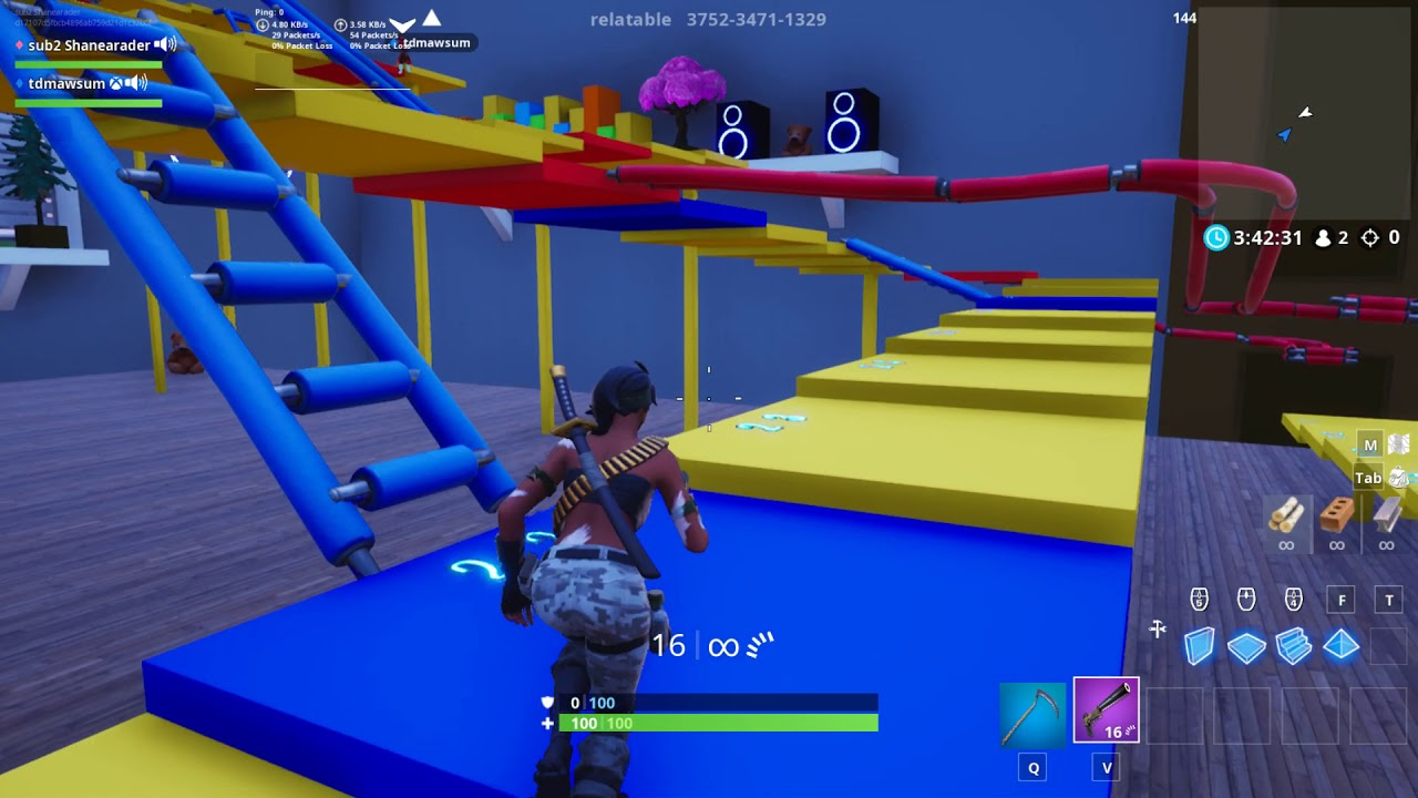 playing shoots and ladder in fortnite code in description - fortnite ladder